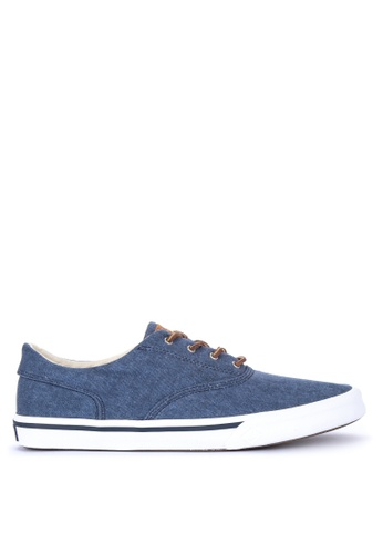 Sperry navy Striper II CVO Washed Sneakers 58E57SHDFC9BBAGS_1