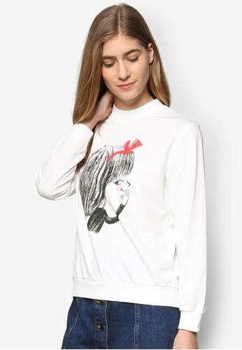 Pink Eesprit outlet 高雄vil × Darren 聯名圖案設計長袖衫, 服飾, 外套