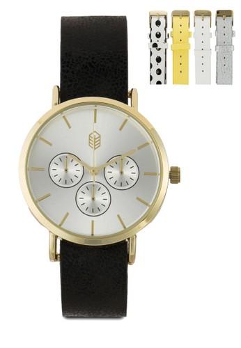 Umtali 副錶盤仿esprit 品牌皮圓錶, 錶類, 時尚型