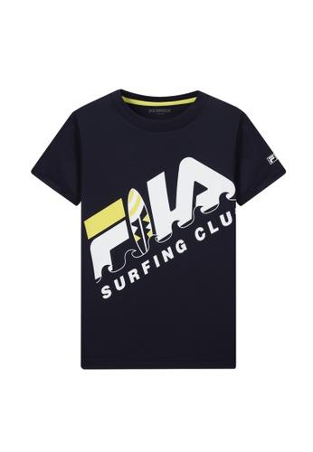 FILA navy FILA KIDS FILA SURFING CLUB Logo T-shirt 8-15yrs 622ADKA74E8E45GS_1