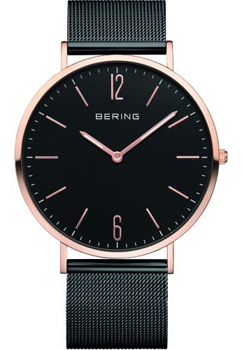 Bering black and gold Bering Classic Black 41 mm Men's Watch (14241-166) 20361AC8152433GS_1