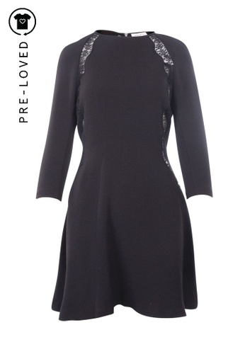 Sandro black Pre-Loved sandro paris Lace Embellished Long Sleeves Dress 2C3D6AA1FD3C92GS_1