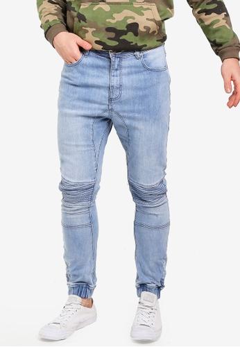 Factorie 藍色 縮口牛仔褲 9B9DFAA1B905D8GS_1