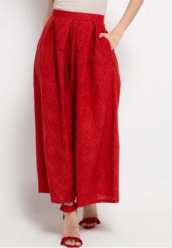 Batik First red Long Pants Pleated High Waist 12DA0AA2757E20GS_1