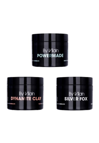 By Vilain By Vilain Silver Fox, Dynamite Clay and Powermade 3 Pack Set (Buy 2 Get 1 Free) 92F8FBE420F706GS_1