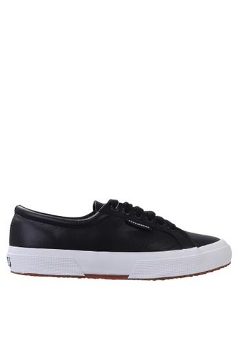 Superga black Superga 2750 Nappa Leather in Black 2BE82SH9B463D2GS_1