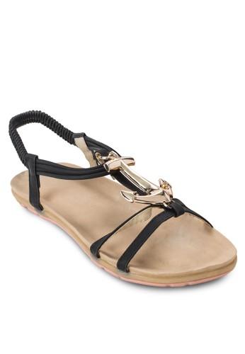 金esprit hong kong 分店錨彈性繞踝涼鞋, 女鞋, 涼鞋