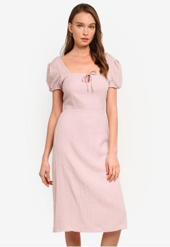Sável pink Senorita Midi Dress 28A6AAA732AE88GS_1
