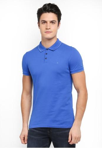Calvin Klein blue Paul 2 Slim Polo Short Sleeves - Calvin Klein Jeans DA092AAEB00459GS_1