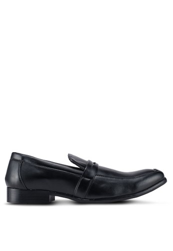 UniqTee black Formal Slip On With Strap 20EE1SH957261BGS_1