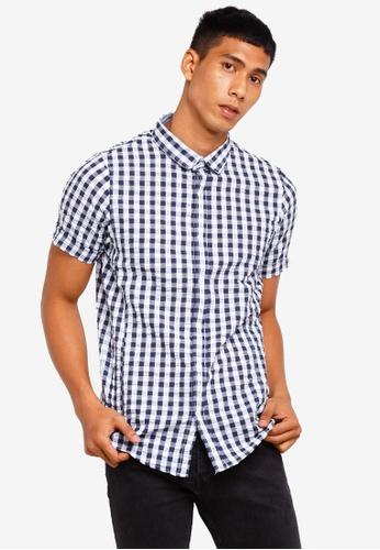 Brave Soul 白色 Gingham Short Sleeve Shirt 75948AAD4E8036GS_1