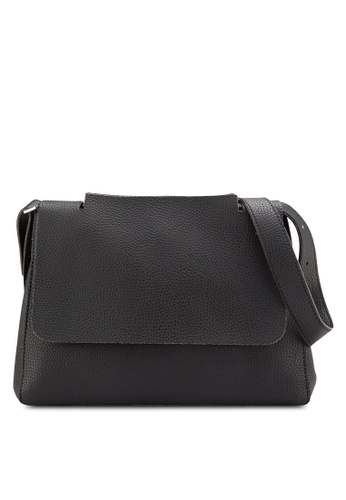 Sunnydaysweety black Simple Front Flap Shoulder Bag A10110BK F7D62ACAD9DAB1GS_1