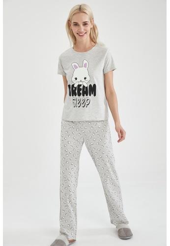 DeFacto grey Woman 2-pieces Homewear Top & Bottom Set CCED9AA2E3B555GS_1