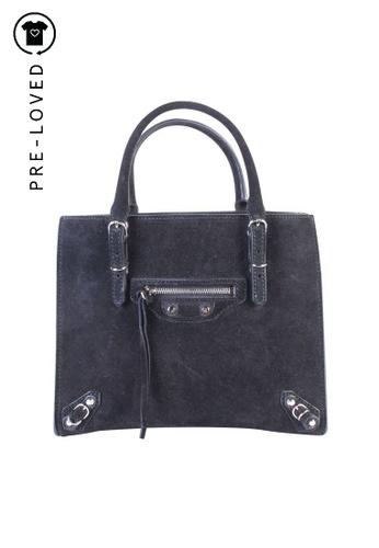 Interminable Disfraces medio  Buy Balenciaga Pre-Loved balenciaga Mini Papier A4 In Black Suede Online |  ZALORA Malaysia
