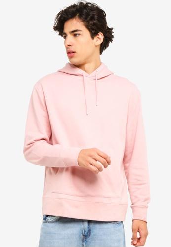 Topman 粉紅色 粉紅色 長袖Hoodie 1D3E9AACA8CC55GS_1