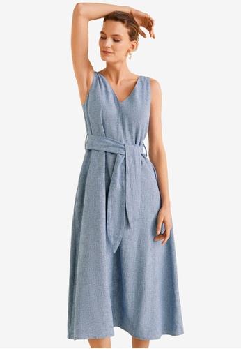 23b0a40b353 Shop Mango Linen-Blend Shirt Dress Online on ZALORA Philippines