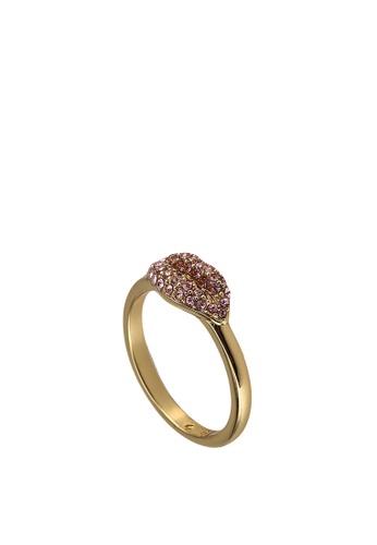 kate spade new york pink Pave Lip Ring (cv) 46CA0ACA1837A7GS_1