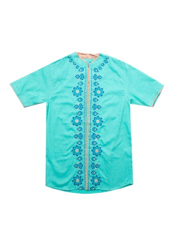 Contempo green Family Kaftan 9B9DDKAE52AFD1GS_1