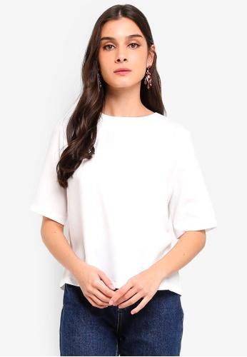 ZALORA 白色 圓領上衣 FD048AA3F7DF05GS_1