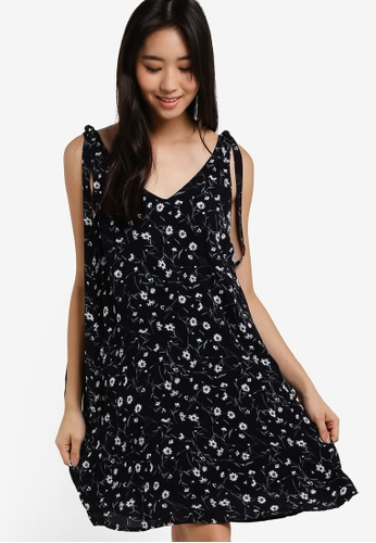 ZALORA navy LOVE Swing Dress with Shoulder Strap 35A1BAAD681762GS_1