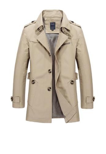Twenty Eight Shoes brown VANSA Fashion Washed Windbreaker Coat VCM-C1306 C1714AAA748ED7GS_1