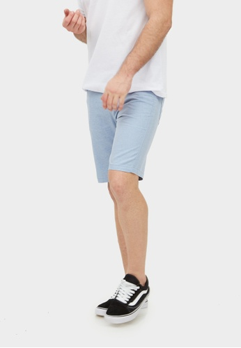 2nd Edition blue Chambray Shorts in Sky Blue 2N610AA0F59OSG_1