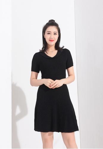 Zafiti black Two Piece Sets Knitting Short Sleeves Dress 56ABAAA57DBEEEGS_1