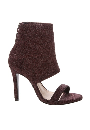 Schutz 紅色 SCHUTZ 露趾短靴型高跟鞋 - MAGGIE (酒紅色) 9CEB7SH764939EGS_1