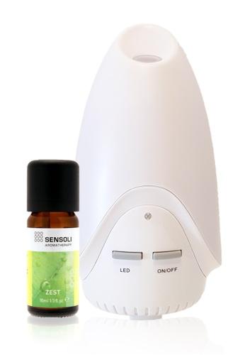 Sensoli Aromatherapy SENSOLI Zest Essential Oil Blend with Ultrasound Diffuser E5592HLBFEAF47GS_1