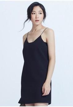 Minimalist V Slip Dress