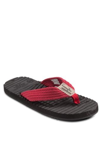 撞色寬帶拖鞋, 鞋esprit 台北, 鞋
