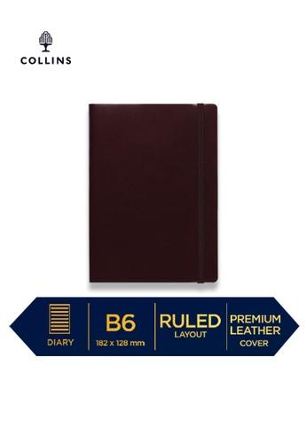 Collins red Collins Metropolitan London  ─  Notebook B6 Ruled Maroon 625D1HL4287312GS_1