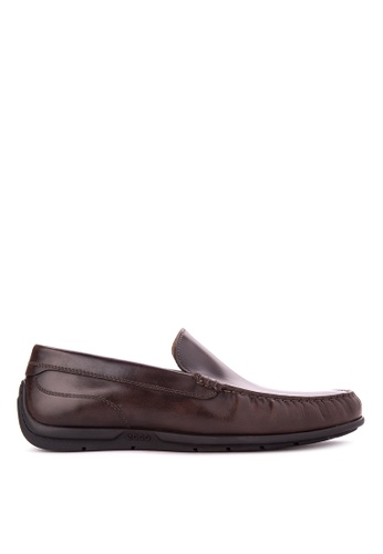 ECCO brown Classic Moc 2.0 Loafers & Moccasins EC876SH75ODOPH_1