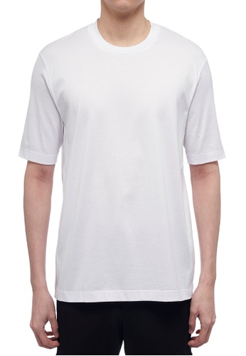 CK CALVIN KLEIN white Double Mercerised Cotton Jersey Short-Sleeved T-Shirt DD5D7AAEC017A8GS_1