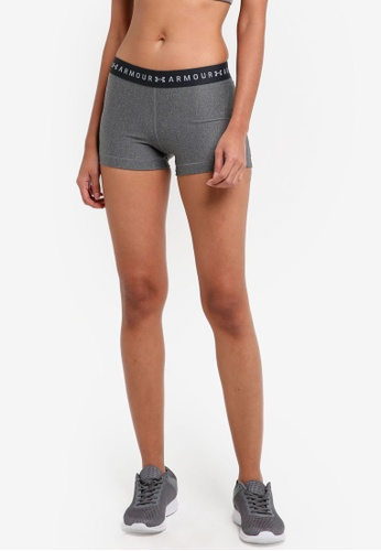 Under Armour black and silver UA HG Armour Shorts UN337AA0SU6GMY_1