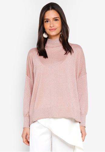 6c74eec3ce Buy Zalia Metallic Knitted Sweater Online on ZALORA Singapore