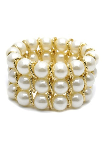 Istana Accessories Gelang Morfie Pearl Bracelet Fashion-White