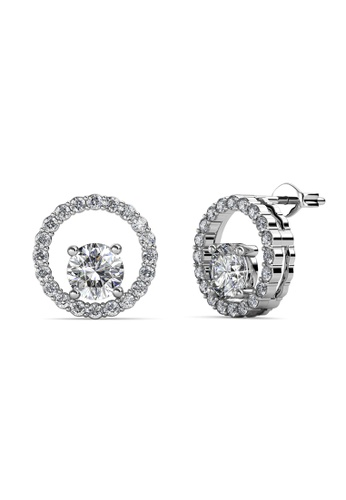 Her Jewellery silver Swarovski® Crystals - Desiree Earrings (18K White Gold Plated) Her Jewellery HE581AC0SICUMY_1