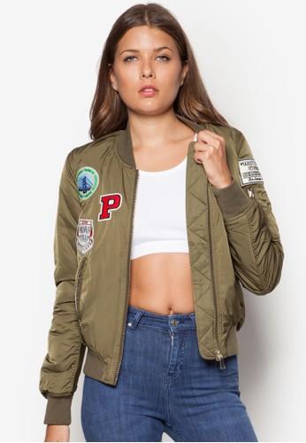 徽章 MA1 棒球外套, topshop包包代購服飾, 服飾