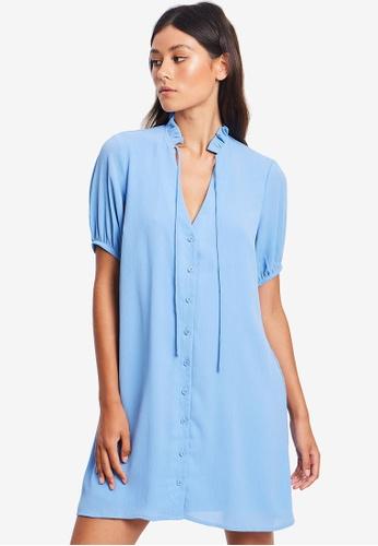 REUX blue Britney Mini Dress A4948AA3D6F7FDGS_1