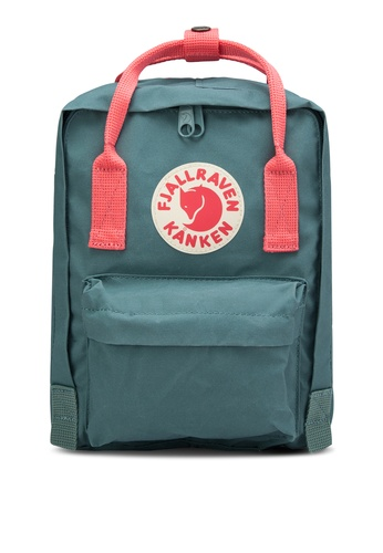 Fjallraven Kanken pink and green Frost Green-Peach Pink Kanken Mini Backpack FJ382AC21GPAMY_1