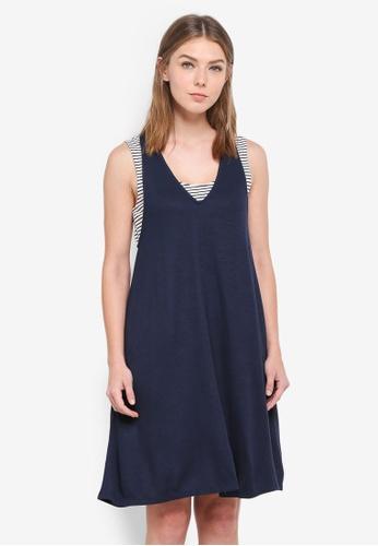 ESPRIT navy Knitted Mini Dress A9FF3AABFEDB1BGS_1