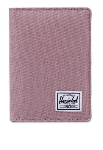 Herschel pink Raynor RFID Passport Holder 4FB2AAC1D108A4GS_1