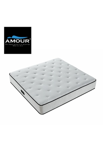 AMOUR AMOUR Brand 12.5 INCHES SUPERCOOLER Eco-Cooling Pocket Spring mattress with Memory Foam topper 8625FHL66F2F88GS_1