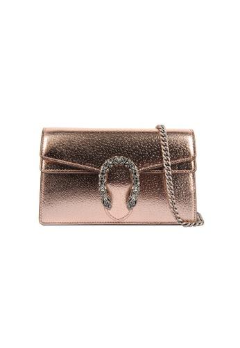 Gucci gold Gucci Dionysus Super Mini Crossbody Bag in Rose Gold C8A50AC581142AGS_1