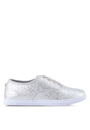 Velvet silver Glitter Sneakers D801BSH87D7F4BGS_1