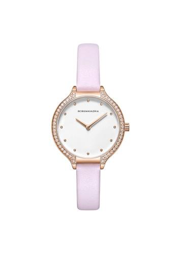 BCBG pink BCBGMAXAZRIA BG50678004 Rose Gold and Pink Leather Watch 9B5B8AC355FD0CGS_1