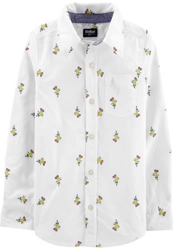 Oshkosh B'gosh white OSH KOSH Boy Banana Print Long Sleeve Shirt E143FKAA228498GS_1