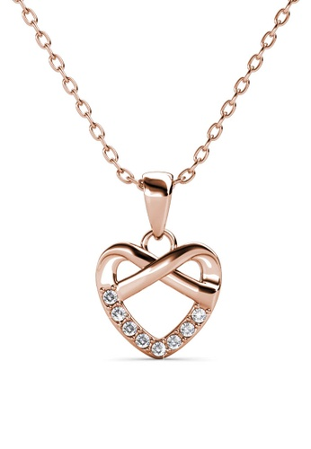 Her Jewellery gold Tie Pendant (Rose Gold) - Made with premium grade crystals from Austria EBF02ACAFEBBC0GS_1