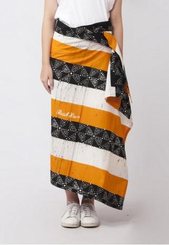 ENOM black and white and yellow Chieko Skirt 65CE0AA5B3024BGS_1